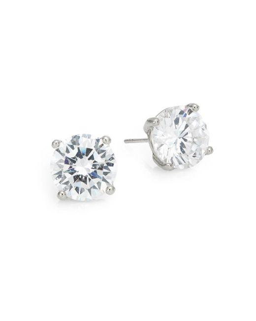 Saks Fifth Avenue   Metallic Round Stud Earrings/silvertone   Lyst
