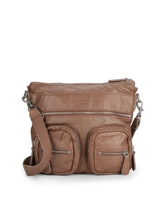 Liebeskind | Brown Anny Leather Crossbody Bag | Lyst