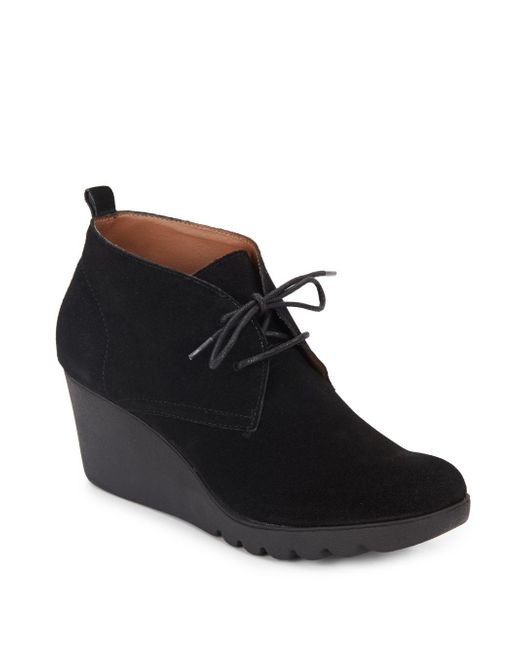 Donald J Pliner | Black Makko Suede Wedge Booties | Lyst