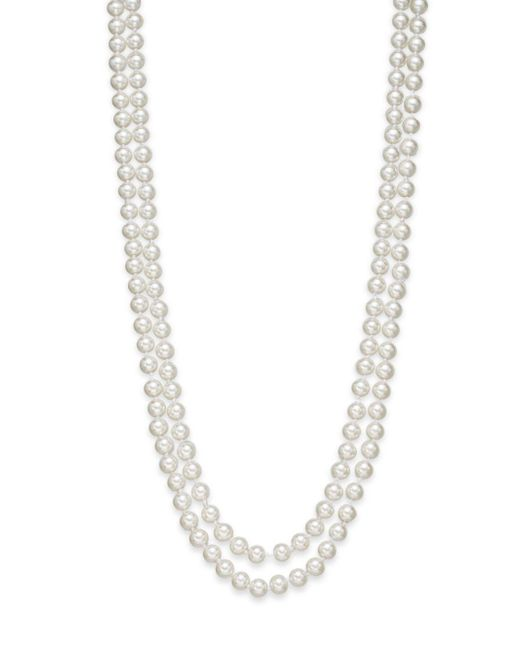 Saks Fifth Avenue | Metallic 8mm Simulated Pearl Necklace/60"