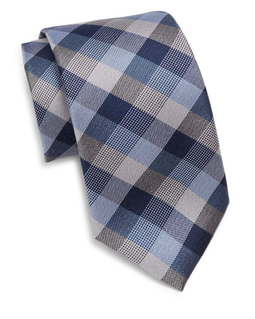 Saks Fifth Avenue | Blue Silk Tri-color Tie for Men | Lyst