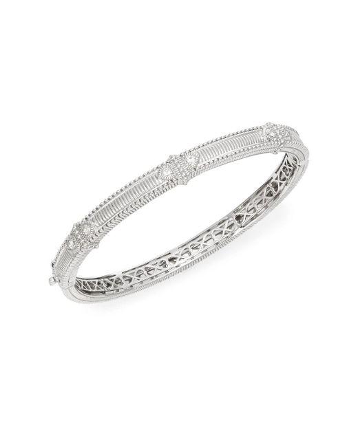Judith Ripka | Metallic Ambrosia White Sapphire & Sterling Silver Bangle Bracelet | Lyst