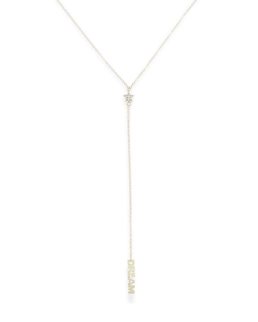 Saks Fifth Avenue | Metallic Diamond & 14k Gold Star 'y' Necklace | Lyst