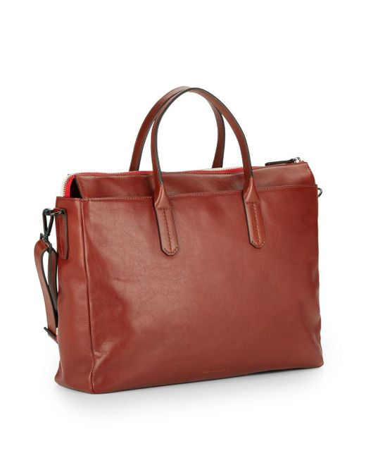 Ben Minkoff   Brown Brompton Leather Briefcase for Men   Lyst