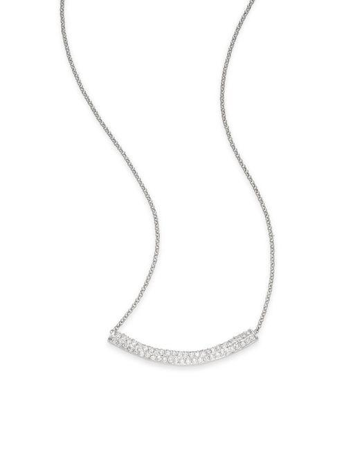 Saks Fifth Avenue | Metallic Pavé Arc Pendant Necklace/silvertone | Lyst
