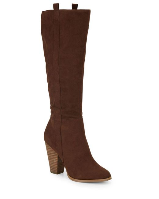 Charles by Charles David   Brown Skyler Suede Tall Boots   Lyst