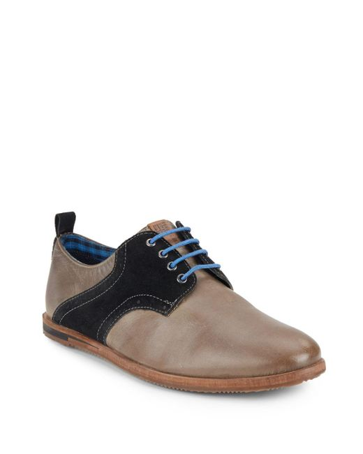 Ben Sherman | Brown Morris Leather & Suede Saddle Shoes for Men | Lyst