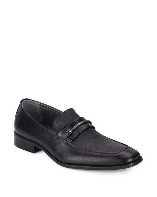 Calvin Klein | Black Gallard Leather Loafers for Men | Lyst