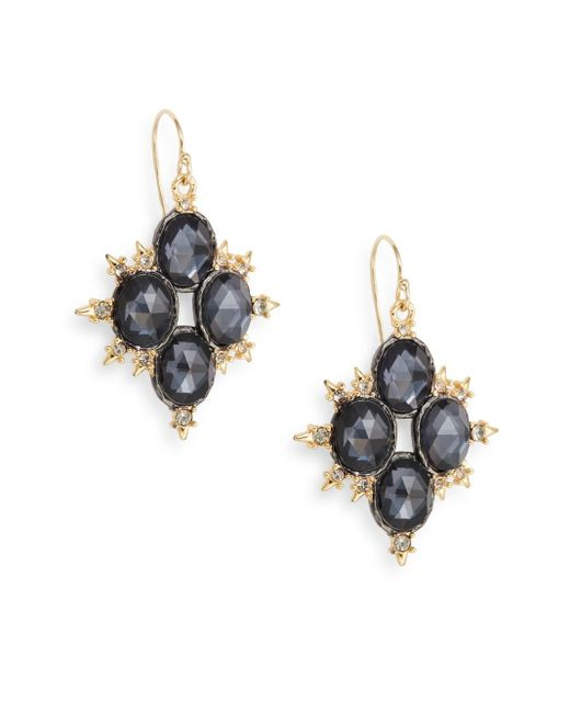 Alexis Bittar | Metallic Elements Dark Alchemy Hematite Doublet Spiky Drop Earrings | Lyst