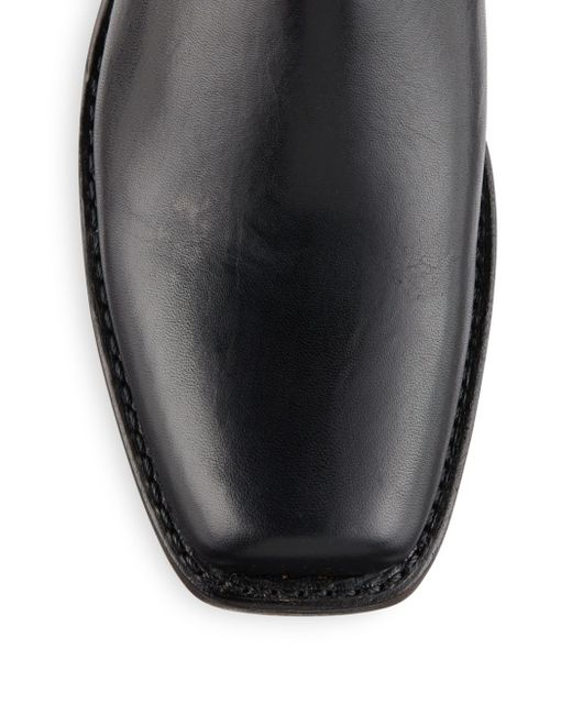 frye leather harness boots in black lyst