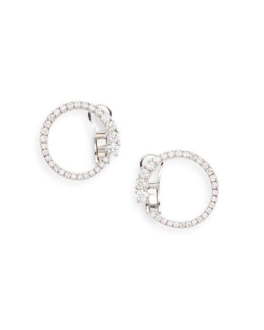 Saks Fifth Avenue | Metallic 1.0 Tcw Diamond & 14k White Gold Loop Earring | Lyst