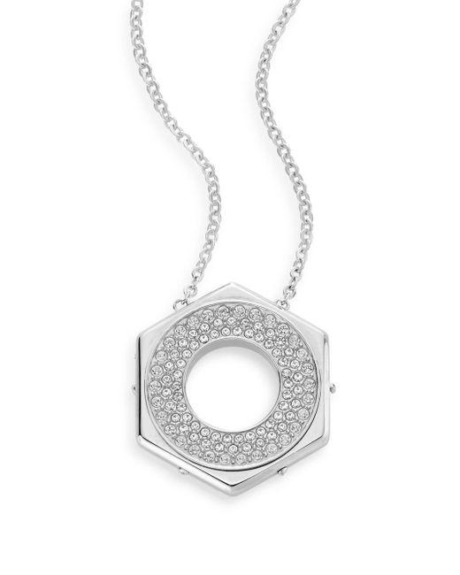 Swarovski   Metallic Bolt Crystal Pendant Necklace   Lyst