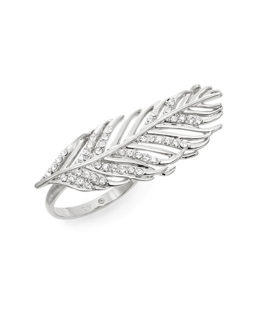 Rebecca Minkoff | Metallic Feather Ring/silvertone | Lyst