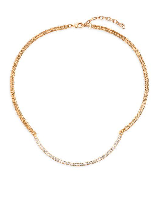 Vita Fede | Metallic Half Moon Swarovski Crystal & 24k Rose Goldplated Necklace | Lyst