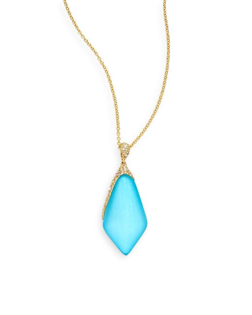 Alexis Bittar | Blue Small Butterfly Necklace | Lyst