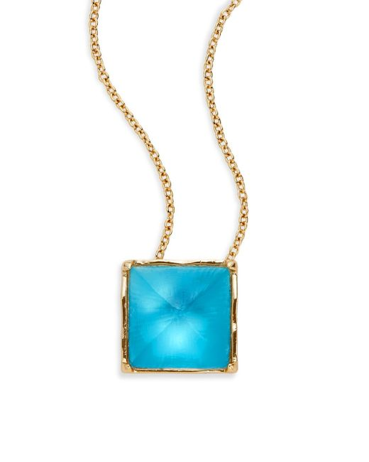 Alexis Bittar | Blue Lucite Pyramid Pendant Necklace | Lyst
