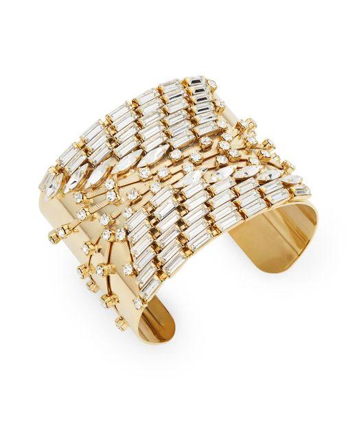 DANNIJO   Elton Swarovski Crystal Goldplated Cuff Bracelet   Lyst