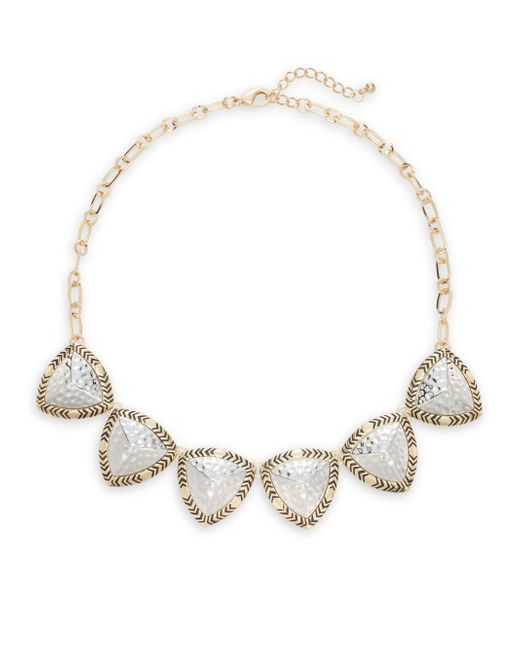Saks Fifth Avenue | Metallic Patterned Necklace | Lyst