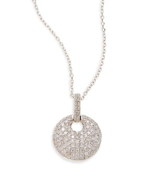 KC Designs | White Topaz Pave Necklace | Lyst