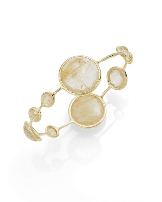Ippolita | Metallic Lollipop Rutilated Quartz & 18k Yellow Gold Bangle Bracelet | Lyst
