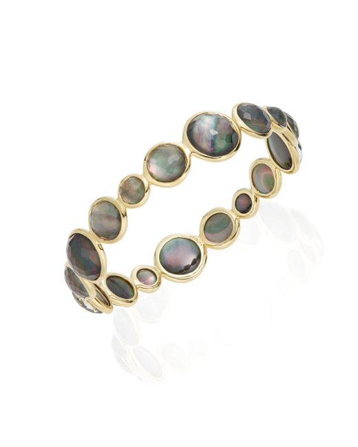 Ippolita | Metallic Lollipop Clear Quartz Black Shell Doublet & 18k Yellow Gold Bracelet | Lyst