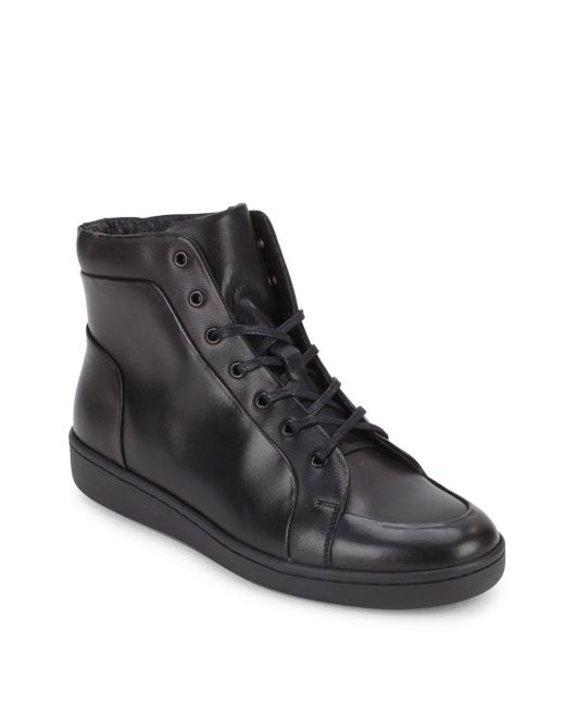 Kenneth Cole | Black Madison High-top Sneakers for Men | Lyst