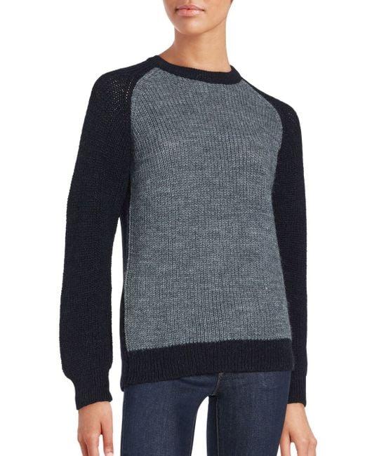 IRO | Blue Solveig Colorblock Sweater | Lyst
