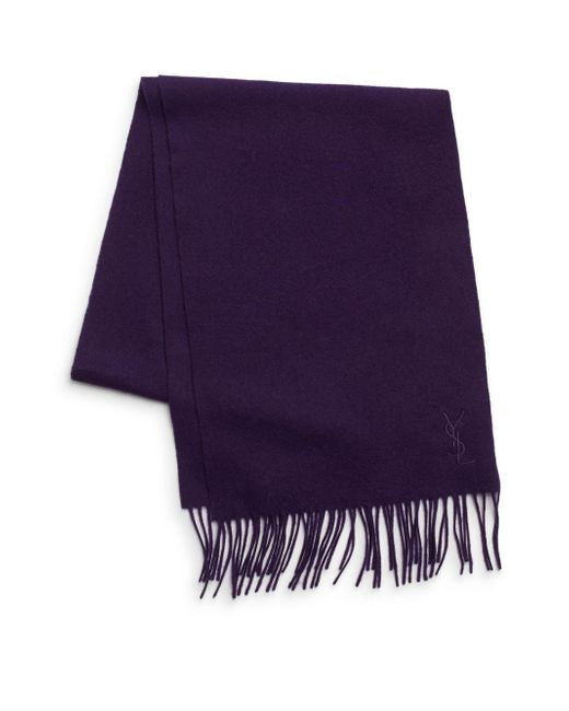 Saint Laurent | Purple Wool & Cashmere Scarf for Men | Lyst