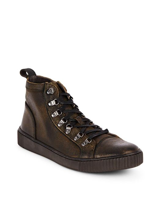 John Varvatos   Multicolor Textured Leather Sneakers for Men   Lyst