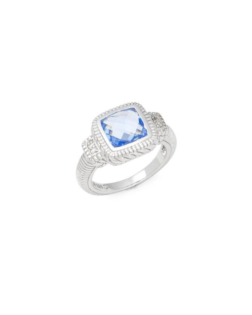 Judith Ripka | Metallic Blue Topaz And Sterling Silver Ring | Lyst