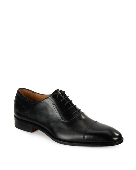 Saks Fifth Avenue | Black Leather Lace-up Oxfords for Men | Lyst