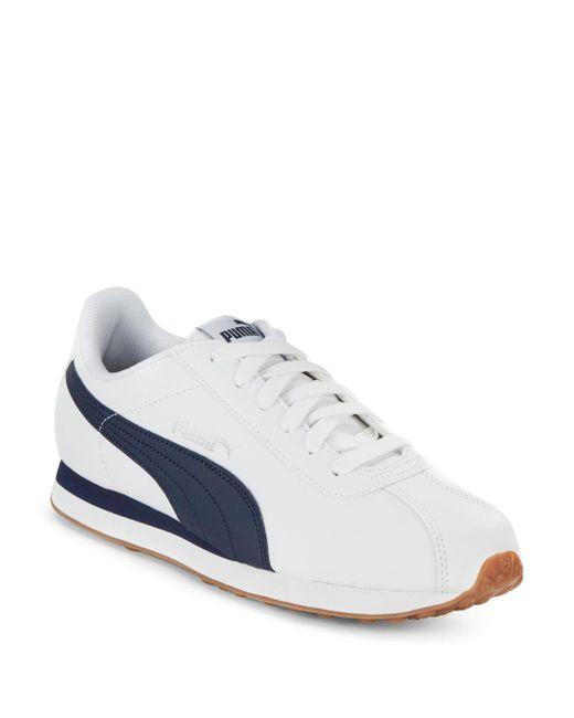 Puma Side Stripe Turin Sneakers In White For Men Lyst