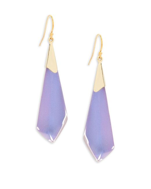 Alexis Bittar   Purple Lucite 10k Gold-plated Earrings   Lyst