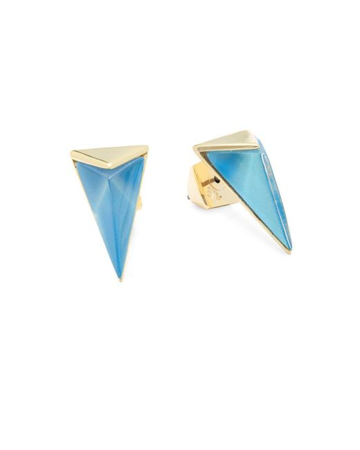 Alexis Bittar   Blue Lucite 10k Gold-plated Stud Earrings   Lyst