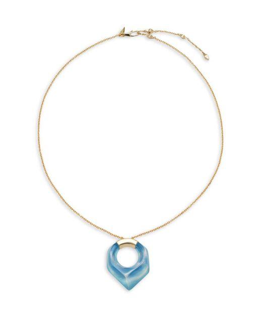 Alexis Bittar | Metallic Lucite 10k Gold-plated Pentagon Pendant Necklace | Lyst