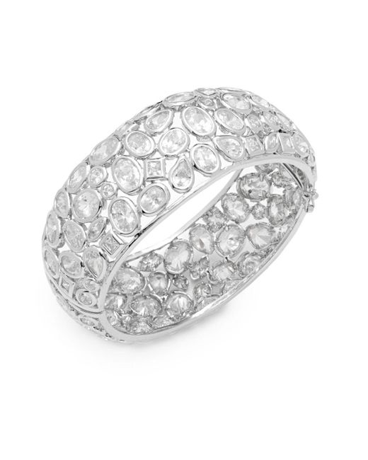 Saks Fifth Avenue | Metallic Cubic Zirconia, Rhinestone & Silver Bracelet | Lyst