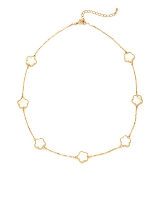 Saks Fifth Avenue   Metallic Mother-of-pearl & Cubic Zirconia Lobster Clasp Necklace   Lyst