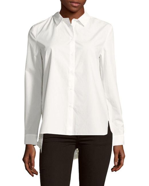 French Connection | White Lace-back Blouse | Lyst