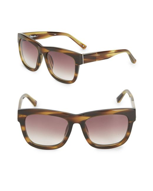 3.1 Phillip Lim | Brown 56mm Square Gradient Sunglasses | Lyst