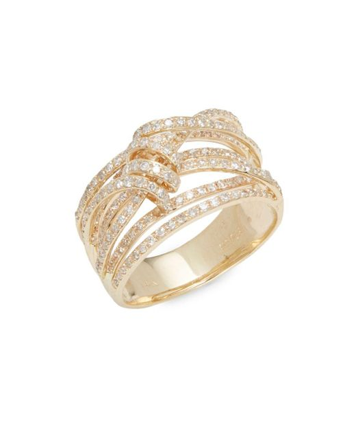 Effy | Metallic Diamond & 14k Yellow Gold Ring | Lyst