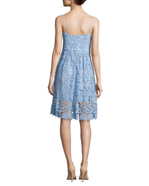 Alexia admor embroidered lace dress in blue lyst