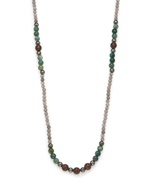 Stephanie Kantis | Metallic Labradorite, Green Moss Agate & Smoky Topaz Long Beaded Necklace | Lyst