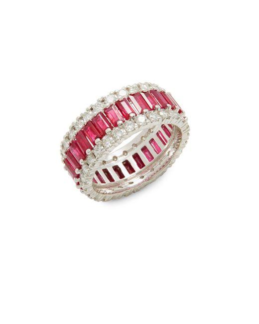 Effy | Metallic Ruby, Diamond & 14k White Gold Ring | Lyst