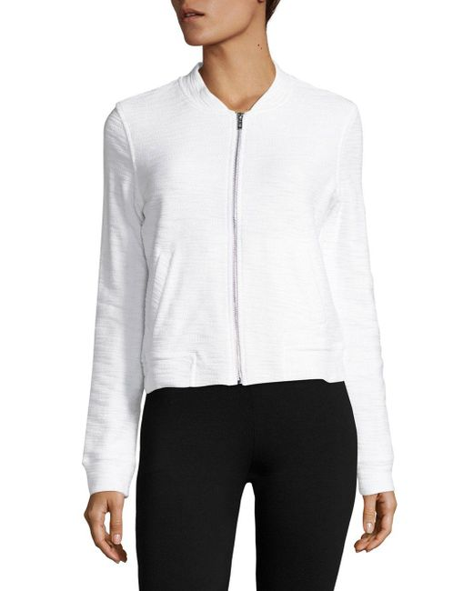 Marc New York | White Cotton Zip-up Jacket | Lyst