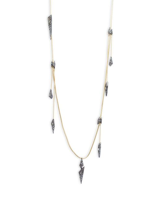 Alexis Bittar | Metallic Crystal-encrusted Origami Drop Necklace | Lyst