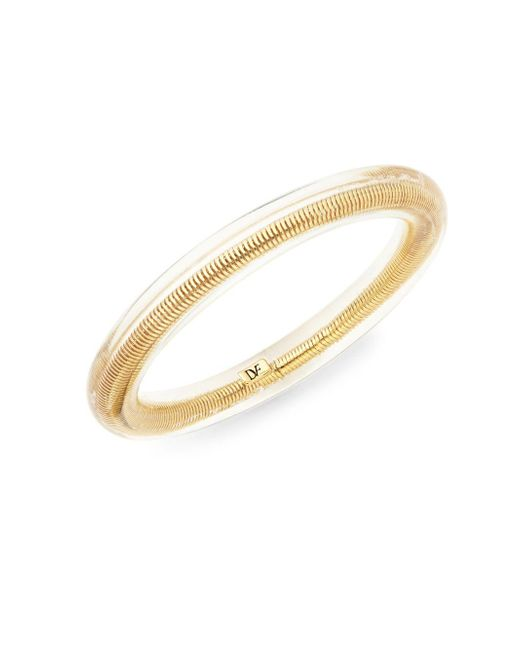 Diane von Furstenberg | Metallic Goldtone Metal & Resin Bangle Bracelet | Lyst