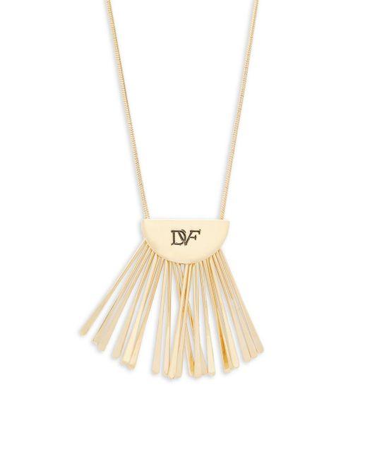 Diane von Furstenberg | Metallic Fan Short Pendant Necklace | Lyst