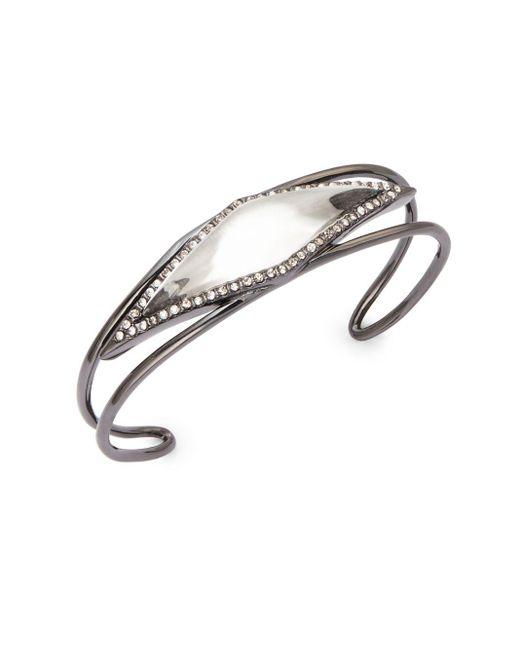 Alexis Bittar | Metallic Crystal-framed Lucite Cuff Bracelet | Lyst