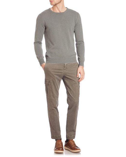 Eleventy | White Washed Cashmere Raglan Pullover for Men | Lyst