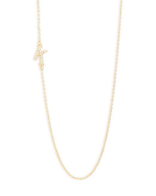 BaubleBar | Metallic Diamanda Alpha 14k Goldplated K-necklace | Lyst
